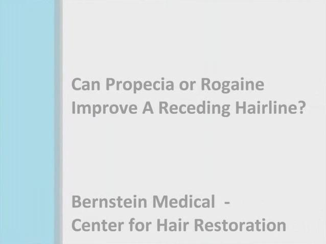 Video Can Propecia Or Rogaine Improve Receding Hairline